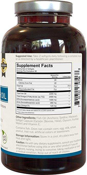 Omega 3 fish oil ultra strength viva labs 180 softgels for Viva fish oil